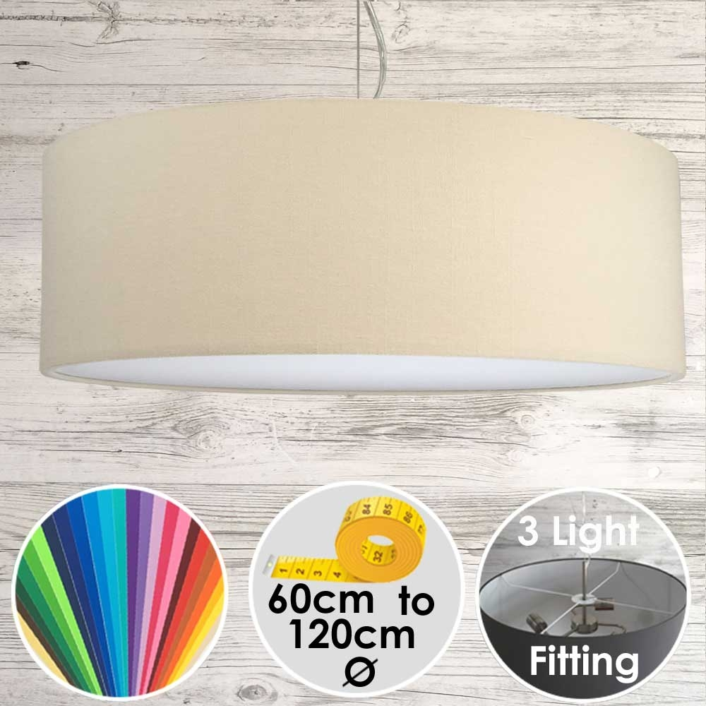 Cara XL Drum Ceiling Light Ivory